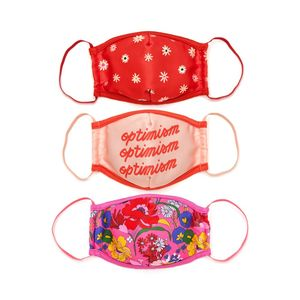 Positivity Mask Set Of 3 Optimism Daisysuperbloom Pink