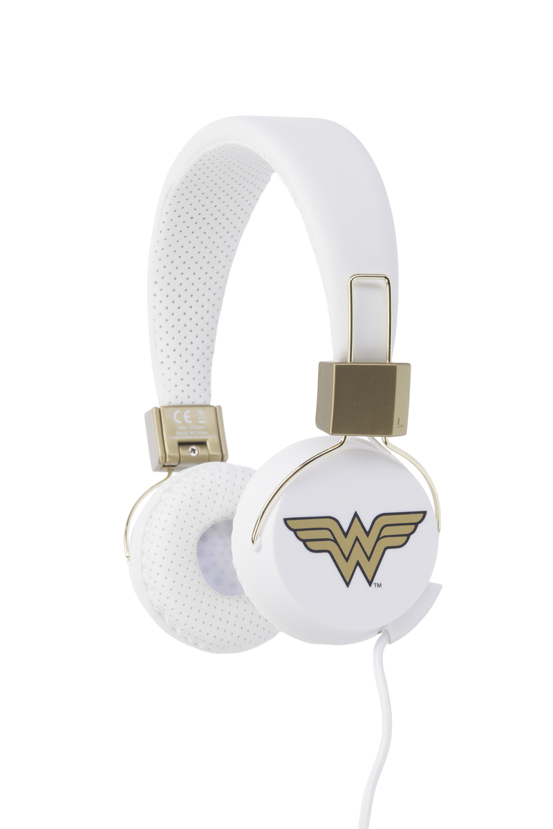 OTL Technologies DC Comics Wonder Woman Headphones Head-band Gold,White