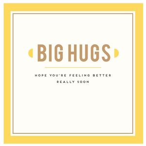 Get Well Big Hugs New