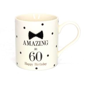 Mad Dots Blk Tie 60Th Mug