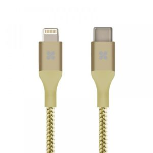 Promate Usb C Cable With Lightning Connector200Cm Gold