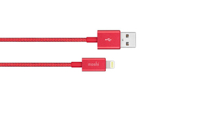 Moshi Integra Lightning Cable Crimson Red