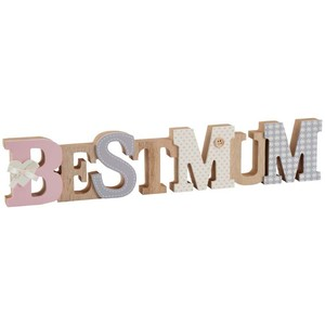 Best mum decorated wooden word