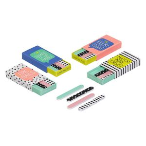 Matchbox nail files 4 mixed designs 16 pcs