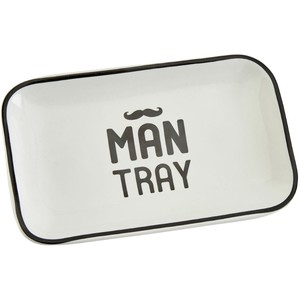 Ceramic man tray