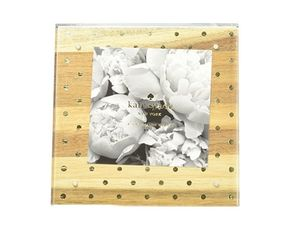 Acrylic Picture Frame Wood & Gold Dots