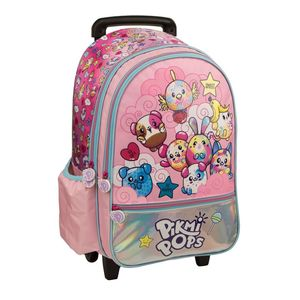 Pikmipops So Cute Sweet And Happy 18 Large Roller Backpack With 2 Compartments 1 Front Pocket & 2 Side Pockets