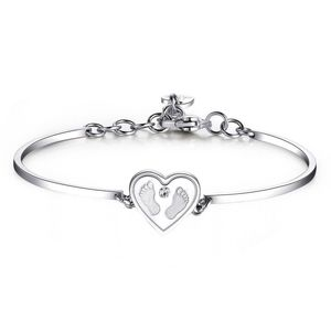 Waiting For You Expecting Love Life 316L Stainless Steel And Crystal Swarovski Crystal