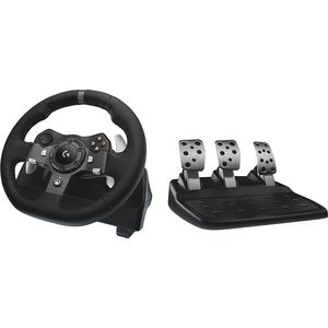 Logitech G920 Steering Wheel + Pedals Xbox One Black