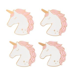 Set Of 4 Rainbow Unicorn Coasters