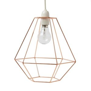 Wire Diamond Lampshade Copper