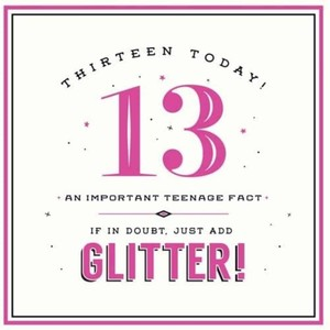 13 Today Add Glitter New