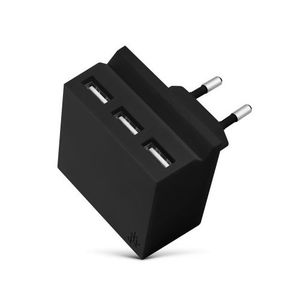 3In1 Hub Mini Hide Charger 3 Usb Portswith Phone Stand Blk