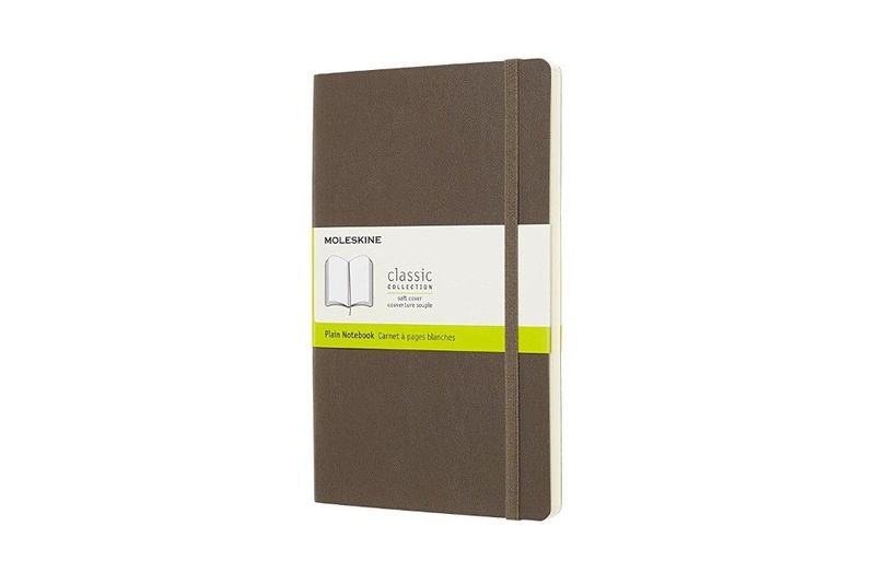 Moleskine 8058341715536 Notebook Large Plain Soft Cover Earth Brown