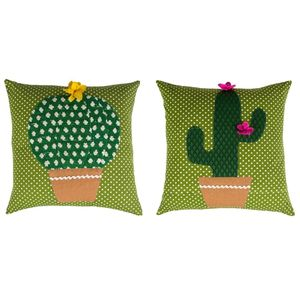 Colourful Cactus Cushion with Inner