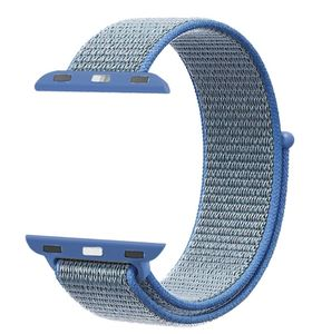 Promate Nylon Mesh Strap For 42Mm Applewatch Blue