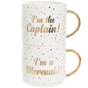 Mermaid Captain Stack Mugs 2S