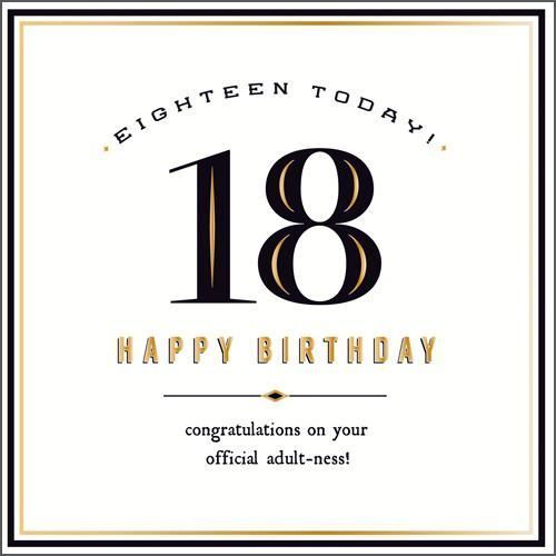 Eighteen Today Official Adult Ness New