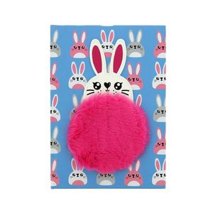 Rabbit Notebook With Plush Patch