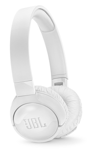JBL TUNE600 White Bluetooth Noise Cancelling On-Ear Headphones