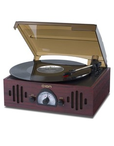 Ion Trio Lp 3-In-1 Retro 3-In-1 Music Center With Turntable