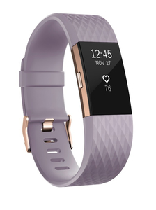 Fitbit Charge 2 Lavender/Rose Gold Large Activity Tracker