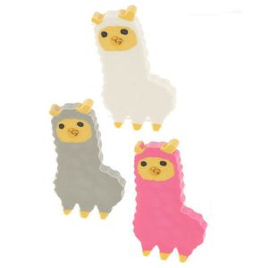 Fun Cute Alpaca Eraser Set Of 3