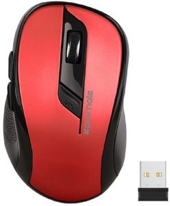 Promate Wireless Ergonomic Optical Mouse Red