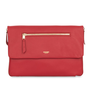 Knomo Elektronista Red Leather Clutch bag