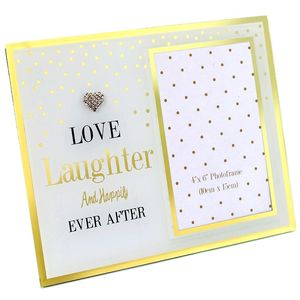 Mad Dots Mirror Frame Love Laugh