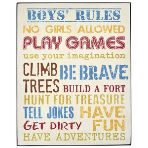 Boys rules sign