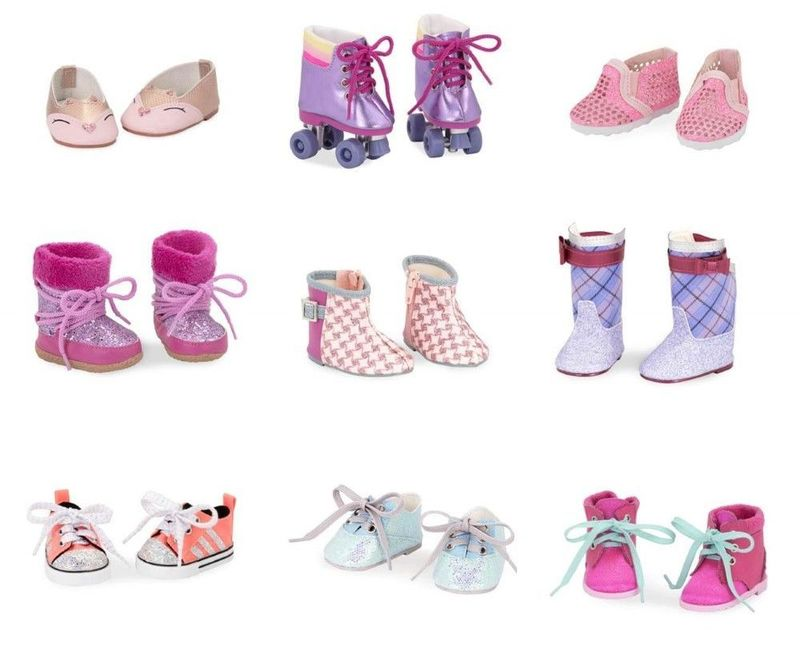 18 Doll Shoes Assortment