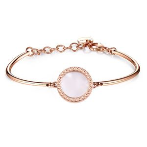 Bracelet Rose Gold Pvd with Mother-Of-Pearl Disc