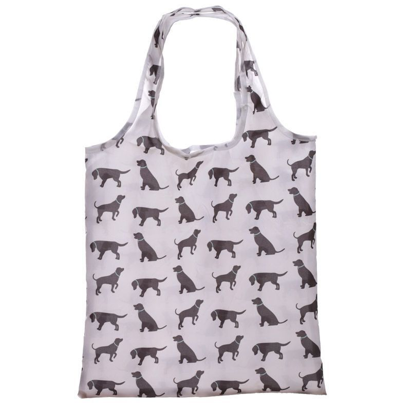 Handy Fold up Cat & Dog Design ShoppinGBag with Holder