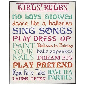 Girls rules sign