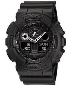 G Shock Ana Digi Metallic Shadow Resin Strap Black