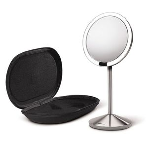 Sensor-Lighted Makeup/Vanity Mirror with Case