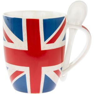 Union Jack Mug With Spoon