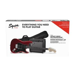 Squier Strat Pack Hss + 15G Candy Apple Red