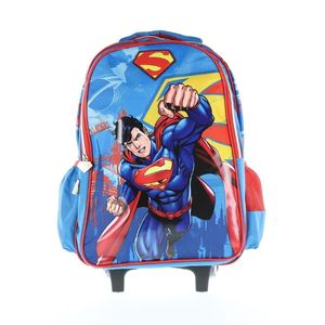 Superman Trolley Bag 2 Main Compartments And 2 Side Pockets 18