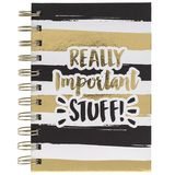 Important stuff gold notebook
