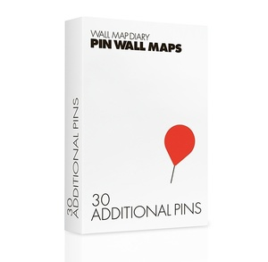 Additional Pins For Wall Map Diary Red
