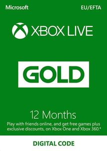 Xbox Live Gold 12 Months Subscription Usa