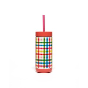 Ban.do Stainless Steel Tumbler with Straw Block Party