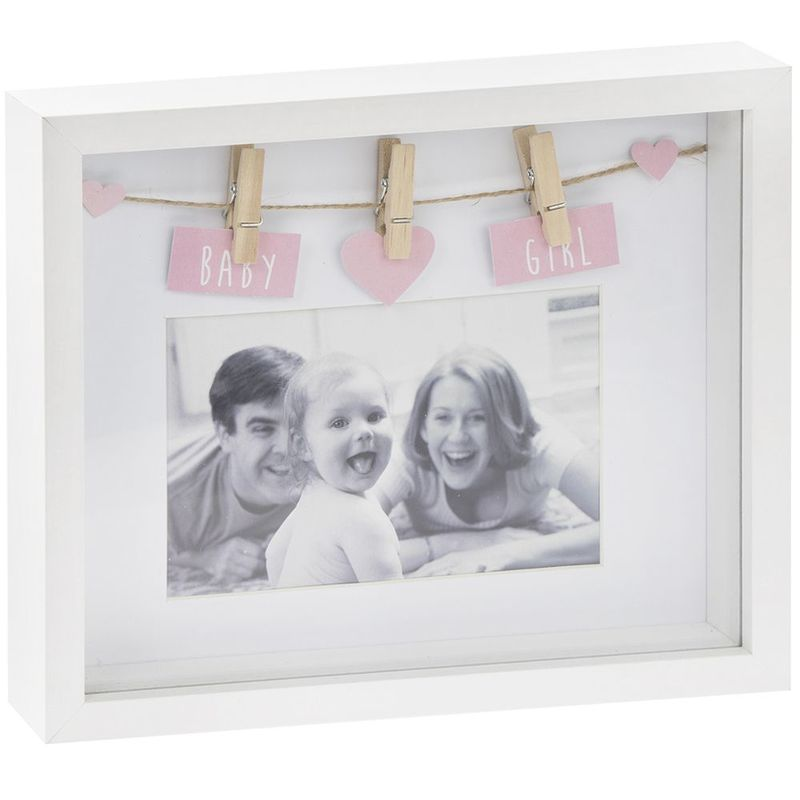 Sentiments baby girl frame