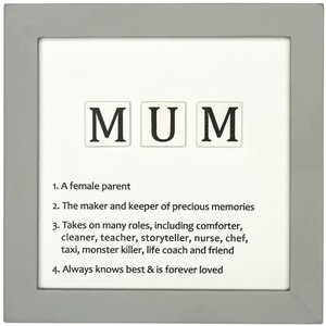 Mum Letter Tiles Definition Sign
