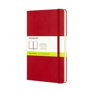 Moleskine Notebook Large Plain Red Hard
