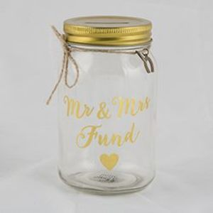 Mr Mrs Fund Jar Money Box